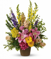 Spring Garden Funeral Arrangement