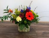 vibrant garden Vase arrangement