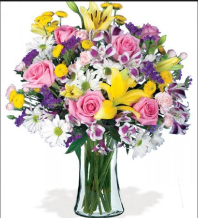 Spring Garden Vase of bright spring flowers