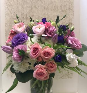 Spring Gathering Vase Arrangement in Northport, NY | Hengstenberg's Florist