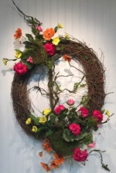 Spring Grapevine Wreath T&V Exclusive