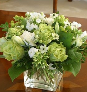 white and green elegance  holiday