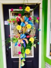 spring has arise on my door wreath silk wreath