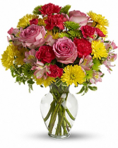 Spring has come fresh arrangement one size only as shown in picture