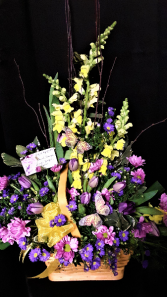 Spring has Sprung basket arrangement