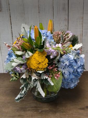 Spring Hydrangea Garden Vase Arrangement