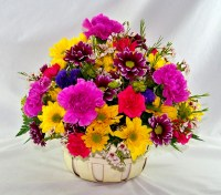Spring in a Basket Basket Arrangement