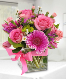 Spring into Pink Floral Arrangment