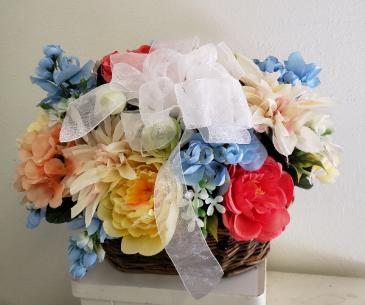 (SILK) Spring into Summer Silk flower arrangement