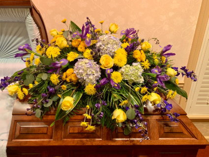 Spring Iris spray  funeral