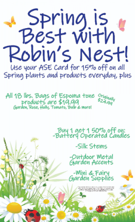 Spring is Best at Robin's Nest   in Easton, MD | ROBINS NEST FLORAL AND GARDEN CENTER