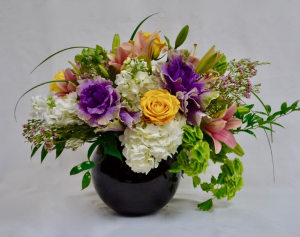 Spring is here Bubble bowl arrangement in Coral Springs, FL | Hearts & Flowers of Coral Springs