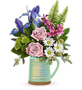 Spring is Served Bouquet Fresh Arrangement
