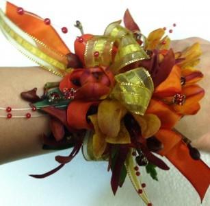 Spring Jazz wrist corsage