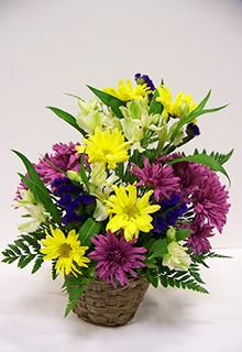 Spring Look Basket Arrangement in Lebanon, NH | LEBANON GARDEN OF EDEN FLORAL SHOP