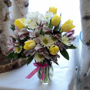 Spring Melody vase arrangement in North Adams, MA | MOUNT WILLIAMS GREENHOUSES INC