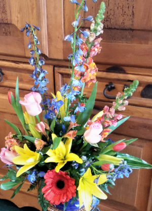 Here Comes The Sun Container Arrangement in Venice, FL | ALWAYS AN OCCASION FLORIST & DECOR