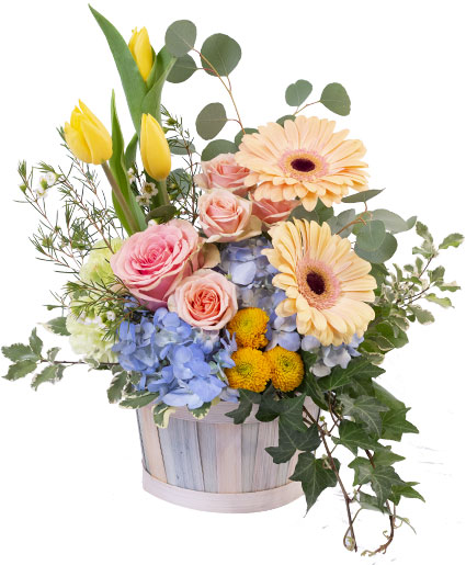 Spring Morning Basket Arrangement
