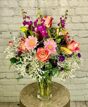 Spring Morning Vase Arrangement in Summerville, SC | The Tilted Tulip