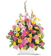 Spring Rememberance Basket Arrangement