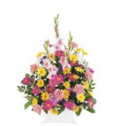 Spring Remembrance Basket Funeral Basket