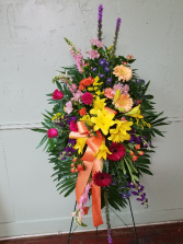 Spring Remembrance Easel Spray