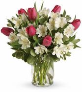 Spring Romance Bouquet Vase arrangement
