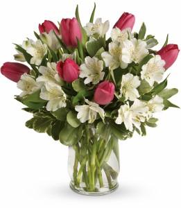 Spring Romance HEV244A in Henniker, NH   HOLLYHOCK FLOWERS