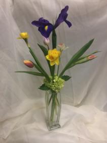 Spring Sampler Bud Vase