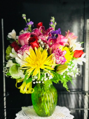 Spring Sensation Birthday  arrangement  in Lauderhill, FL | A ROYAL BLOOM FLOWERS & GIFTS