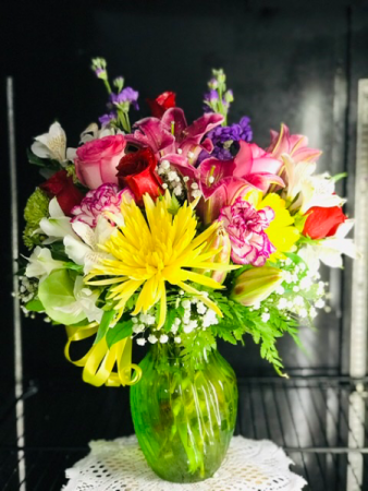 Spring Sensation Birthday  arrangement