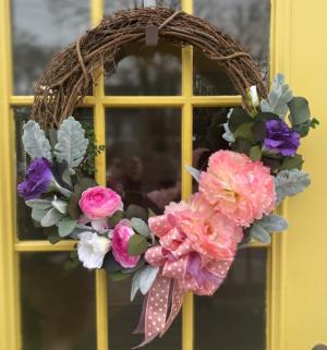 Spring Silk Wreath Wreath in Weymouth, MA | DIERSCH FLOWERS