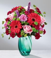 Spring Skies  Mixed arrangement vase