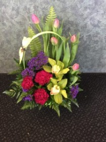 Spring Smiles Basket Arrangement
