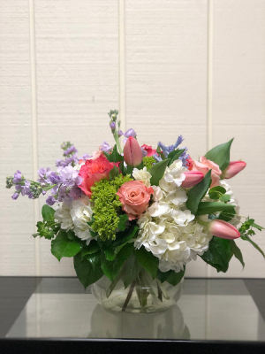 Spring Happy! Posie Vase in Fairfield, CT | Blossoms at Dailey's Flower Shop