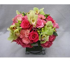 Spring Sunrise Vase Arrangement  in Teaneck, NJ | Teaneck Flower Shop (A.A.A.A.A.)