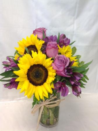 Spring Sunshine Vased Arrangement