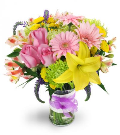 Spring Surprise All-around floral arrangement