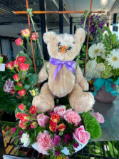 Spring Swing Bear and roses