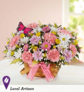 Spring Time Basket Floral Arrangement