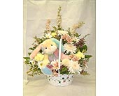 Spring Time Bunny Basket Arrangement
