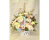 Spring Time Bunny Basket Arrangement