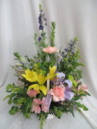 Spring Time Glory Fresh Mixed Arrangement in a Basket