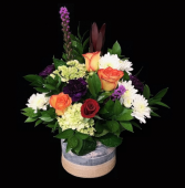 Spring Time Gray Vase Mixed Colors
