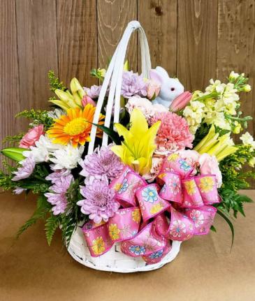 Spring To Life Basket Arrangement