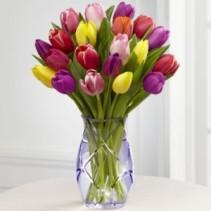 Spring Tulip Bouquet Spring Vase Arrangement