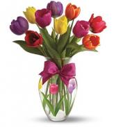 Spring Tulip Bouquet Vase arrangement
