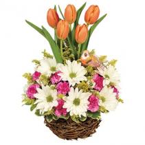 Spring Tulip Garden Floral Arrangement