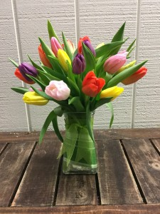 Spring Tulip Vase Vase Arrangement in Fairfield, CT | Blossoms at Dailey's Flower Shop