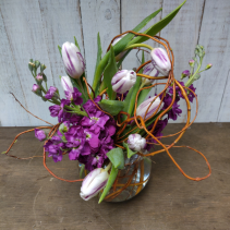 Spring Tulips and Stock Vase